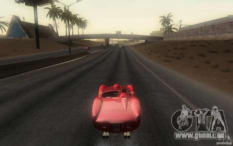 Ferrari 250 Testa Rossa pour GTA San Andreas sur la vue arrière gauche