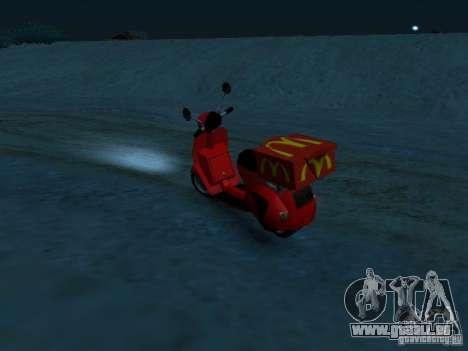 McDonalds Pizzaboy für GTA San Andreas linke Ansicht