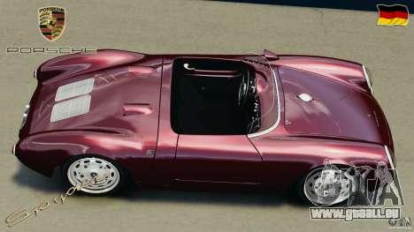 Porsche 550 A Spyder 1956 v1.0 pour GTA 4 est un droit