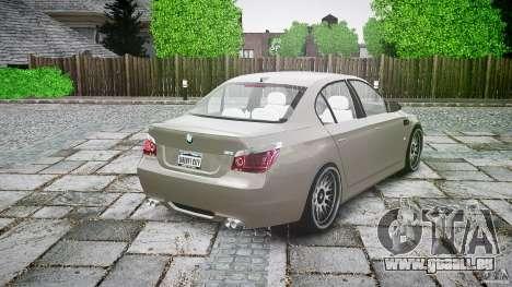 BMW E60 M5 2006 für GTA 4 obere Ansicht