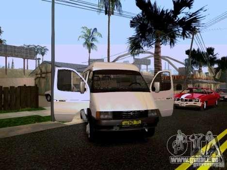 Gazelle 32213 1994 für GTA San Andreas obere Ansicht