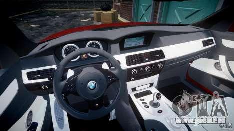 BMW M5 E60 2009 pour GTA 4 Vue arrière