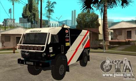 KAMAZ 4911 Rally MASTER pour GTA San Andreas laissé vue