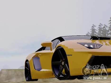 Lamborghini Aventador LP700-4 Vossen für GTA San Andreas Rückansicht