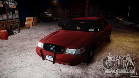 Ford Crown Victoria Detective v4.7 red lights pour GTA 4 vue de dessus