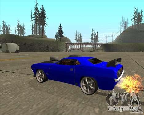 Plymouth Hemi Cuda de NFS Carbon pour GTA San Andreas sur la vue arrière gauche