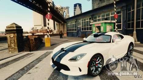 Dodge Viper GTS 2013 pour GTA 4 est une gauche