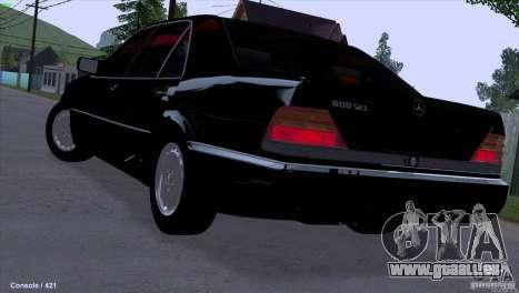 Mercedes-Benz 600SEL pour GTA San Andreas laissé vue