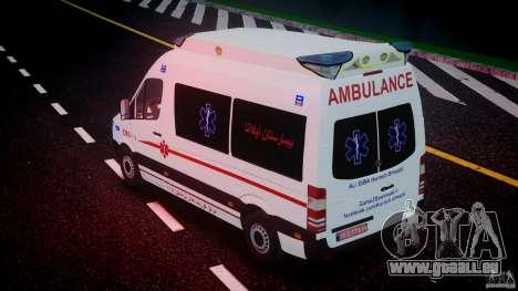 Mercedes-Benz Sprinter Iranian Ambulance [ELS] pour le moteur de GTA 4