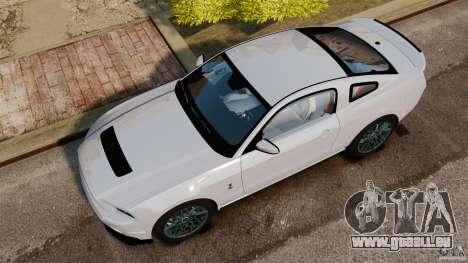 Ford Shelby GT500 2013 pour GTA 4 est un droit