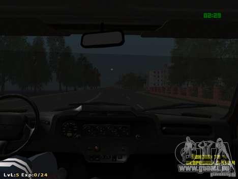 UAZ-315195 Hunter Polizei für GTA San Andreas Unteransicht