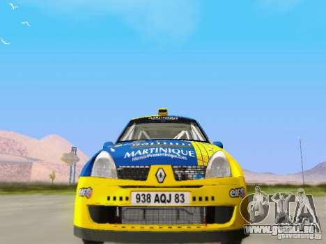 Renault Clio Super 1600 pour GTA San Andreas vue arrière