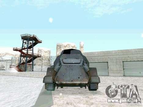 Transportpanzer des Spiels hinter den feindliche für GTA San Andreas zurück linke Ansicht