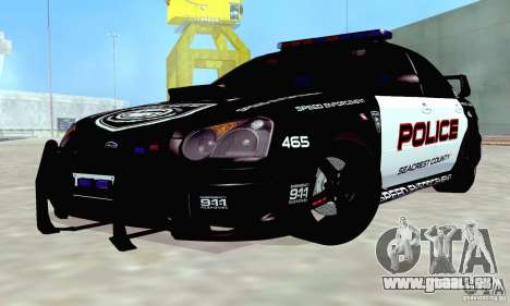 Subaru Impreza WRX STI Police Speed Enforcement pour GTA San Andreas vue de côté