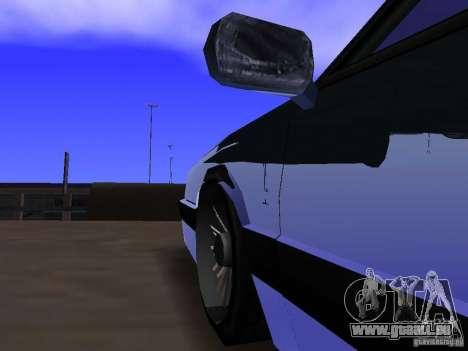 Willard Drift Style pour GTA San Andreas vue intérieure