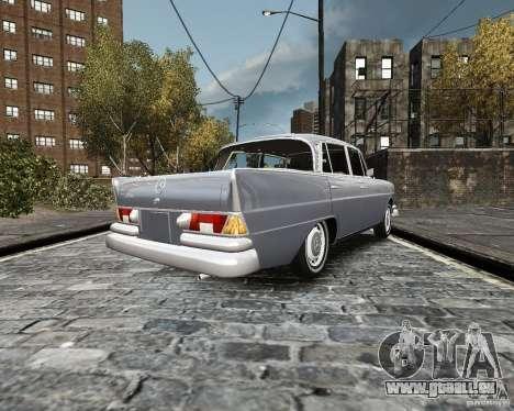 Mercedes-Benz W111 pour GTA 4 Vue arrière de la gauche
