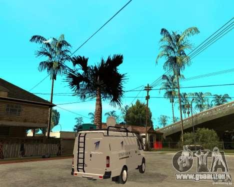 Canal de nouvelles de Gazelle 2705 pour GTA San Andreas sur la vue arrière gauche