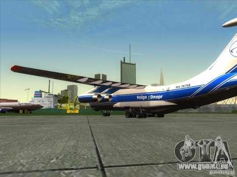 IL-76 m-Aeroflot für GTA San Andreas linke Ansicht