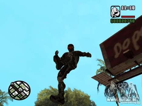 Crysis Nano Suit pour GTA San Andreas septième écran