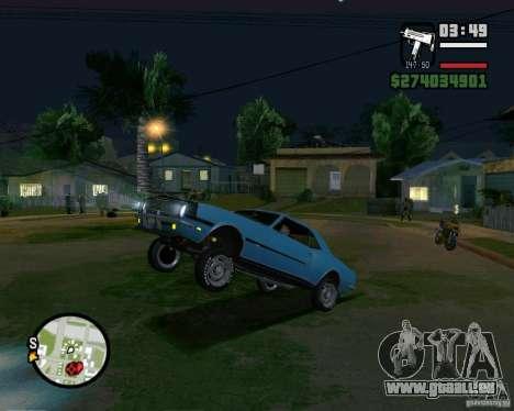 Être capable de soulever la voiture pour votre a pour GTA San Andreas
