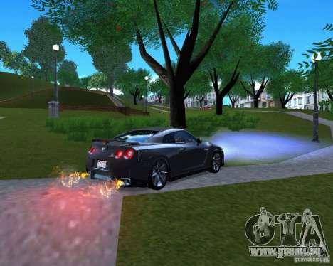 Nissan GTR R35 pour GTA San Andreas laissé vue