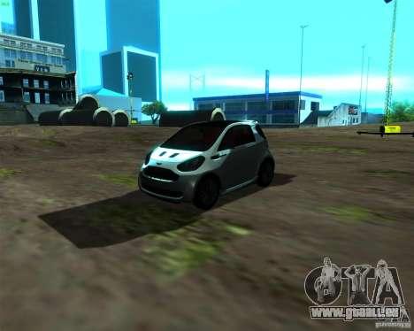 Aston Martin Cygnet für GTA San Andreas linke Ansicht