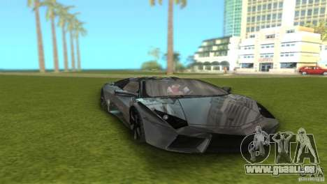 Lamborghini Reventon für GTA Vice City Rückansicht