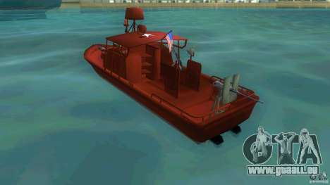 Patrol Boat River Mark 2 (Player_At_Guns) für GTA Vice City zurück linke Ansicht