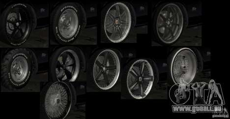 Kits Tuning Sport roue pour GTA San Andreas