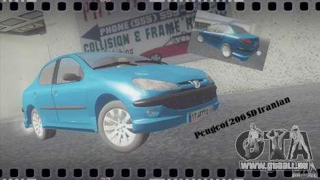 Peugeot 206 SD Iranian für GTA San Andreas