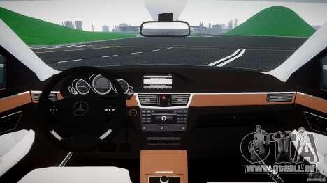 Mercedes-Benz E63 2010 AMG v.1.0 pour GTA 4 Vue arrière
