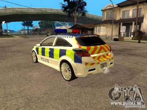 Opel Astra 2007 Police pour GTA San Andreas laissé vue