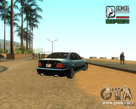 BMW M5 E39 2003 pour GTA San Andreas sur la vue arrière gauche