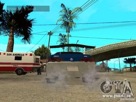 Acura RSX Shark Speed pour GTA San Andreas sur la vue arrière gauche