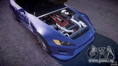 Honda S2000 Tuning 2002 peau 2 de recuit pour GTA 4 vue de dessus