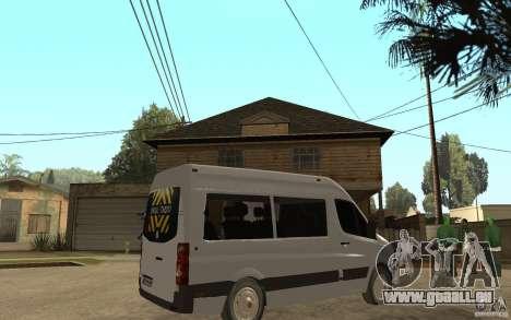 Volkswagen Crafter school bus für GTA San Andreas rechten Ansicht