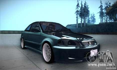 Honda Civic 6Gen pour GTA San Andreas vue intérieure