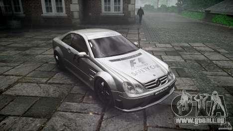 Mercedes Benz CLK63 AMG Black Series 2007 pour GTA 4 Vue arrière