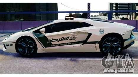 Lamborghini Aventador LP700-4 Dubai Police v1.0 pour GTA 4 Vue arrière de la gauche