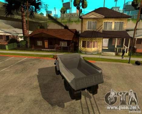 Ural camion à benne basculante 55571 pour GTA San Andreas vue de droite