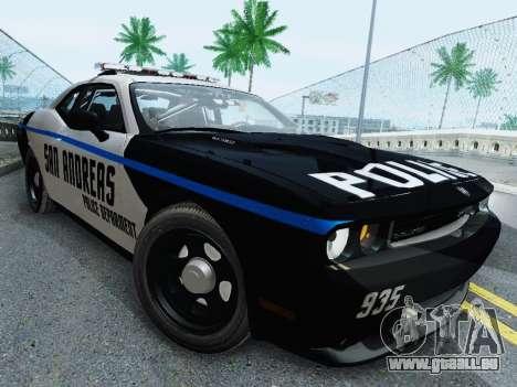 Dodge Challenger SRT8 2010 Police pour GTA San Andreas
