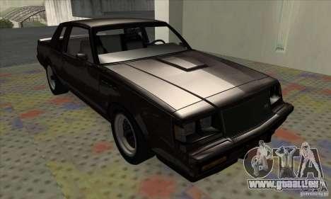 Buick Regal GNX 1987 pour GTA San Andreas laissé vue
