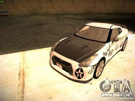 Nissan GT-R pour GTA San Andreas vue de côté