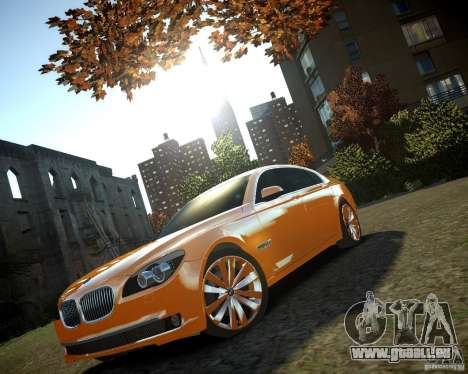 BMW 750Li  2010 für GTA 4 Rückansicht