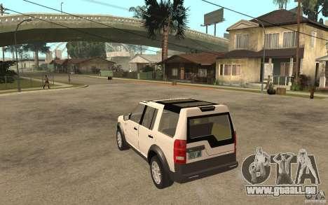Land Rover Discovery 3 V8 für GTA San Andreas zurück linke Ansicht