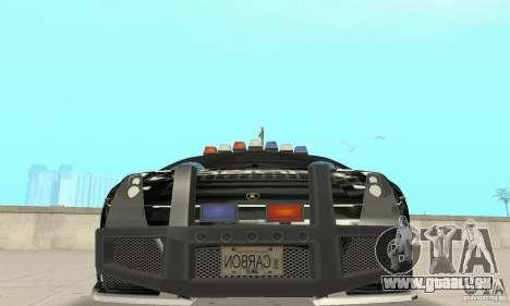 Lamborghini Gallardo Cop V1.0 pour GTA San Andreas vue intérieure