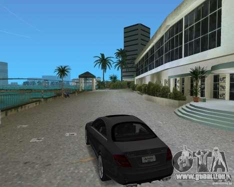 Mercedess Benz CL 65 AMG für GTA Vice City Rückansicht