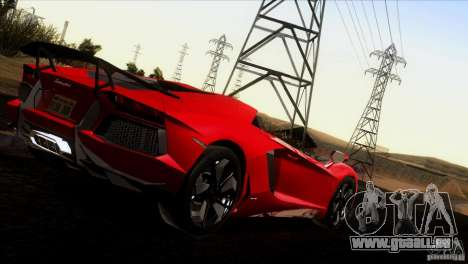 Lamborghini Aventador LP-700 J pour GTA San Andreas vue de dessus