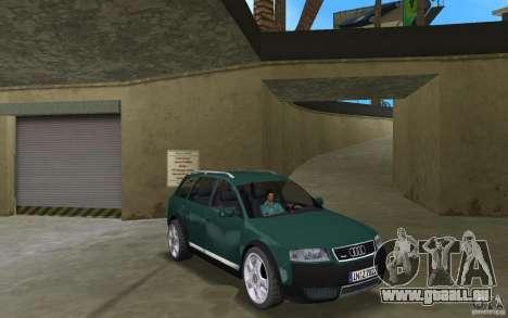 Audi Allroad Quattro pour GTA Vice City vue arrière
