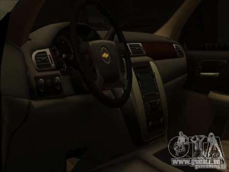 Chevrolet Silverado 3500 pour GTA San Andreas vue intérieure